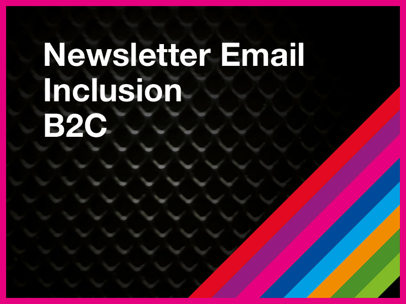 Newsletter Email Inclusion B2C